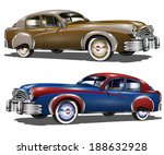 retro cars | Shutterstock .eps vector #188632928
