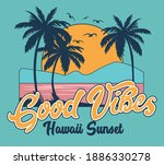hawaii coast surf vector...   Shutterstock .eps vector #1886330278