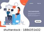 business landing page. website... | Shutterstock .eps vector #1886351632