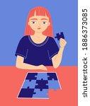 early sign of autism spectrum... | Shutterstock .eps vector #1886373085