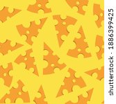 cheese slice pattern seamless... | Shutterstock .eps vector #1886399425