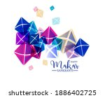 creative happy makar sankranti... | Shutterstock .eps vector #1886402725