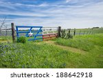 bluebonnet field and a fence... | Shutterstock . vector #188642918