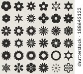 Black And White Abstract Flowe...