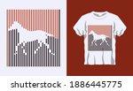 inverted silhouette of wild...   Shutterstock .eps vector #1886445775