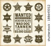 vintage sheriff  marshal and... | Shutterstock .eps vector #188645012