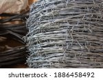 Rolls Of Barbed Wire Used For...