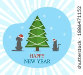 happy new year greeting card.... | Shutterstock .eps vector #1886471152