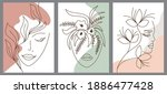 set of creative hand painted...   Shutterstock .eps vector #1886477428