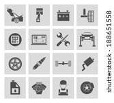 auto car service icons set of... | Shutterstock .eps vector #188651558