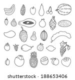 tropical fruits. hand drawn... | Shutterstock .eps vector #188653406