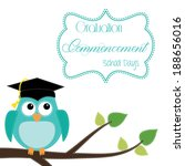 owl with graduation cap sitting ... | Shutterstock .eps vector #188656016