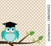 owl with graduation cap sitting ... | Shutterstock .eps vector #188656022