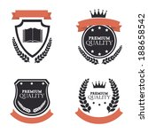 emblem design over gray... | Shutterstock .eps vector #188658542