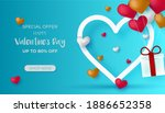 valentines day sale discount...   Shutterstock .eps vector #1886652358