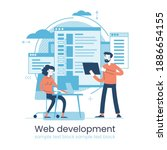 website architecture concept....