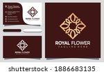 royal flower logo vector ...   Shutterstock .eps vector #1886683135