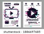 online video backdrop. cinema... | Shutterstock .eps vector #1886697685