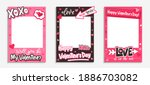 printable valentine's day photo ... | Shutterstock .eps vector #1886703082