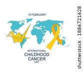international childhood cancer... | Shutterstock .eps vector #1886721628