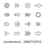 Arrow Vector Icon Set In Thin...