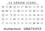 Fifty Five Arrow Vector Icon...