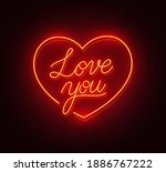love you neon sign on a black... | Shutterstock .eps vector #1886767222