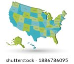 map of united states of america ...   Shutterstock .eps vector #1886786095