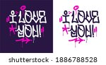 graffiti style i love you...   Shutterstock .eps vector #1886788528