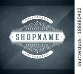 window advertising shop decals... | Shutterstock .eps vector #188680412