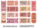 valentines day party ticket... | Shutterstock .eps vector #1886808955