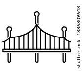 Bridge Icon In Trendy Outline...