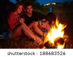 young couple sitting on the... | Shutterstock . vector #188683526
