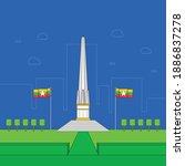 myanmar union day or... | Shutterstock .eps vector #1886837278