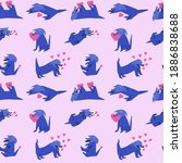 vector seamless pattern   dog... | Shutterstock .eps vector #1886838688