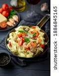 Small Pan With Fettuccine And...