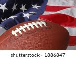 Football With The American Fla...
