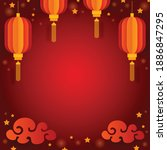 chinese new year greeting card  ... | Shutterstock .eps vector #1886847295