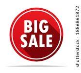 big sale round icon vector... | Shutterstock .eps vector #1886861872