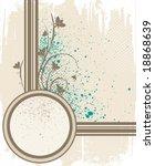 vector floral frame   Shutterstock .eps vector #18868639
