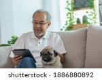 Happiness Elderly Asian Man...