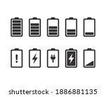 Battery Icons. Full  Low  And...
