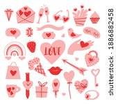 valentines day set with cute...