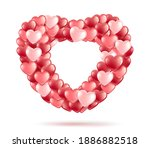 bundle  bouquet in the shape of ...   Shutterstock .eps vector #1886882518