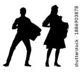 duet of accordion players... | Shutterstock .eps vector #1886903878