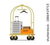 hotel luggage cart with luggage ...   Shutterstock .eps vector #1886919715