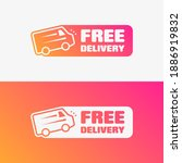 free delivery shopping vector... | Shutterstock .eps vector #1886919832