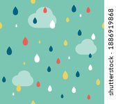 hand drawn childish clouds and... | Shutterstock .eps vector #1886919868