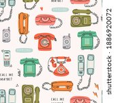 set of various classic and... | Shutterstock .eps vector #1886920072