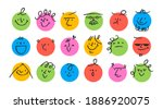 round abstract comic faces with ... | Shutterstock .eps vector #1886920075
